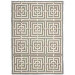 Safavieh Poolside Grey/ Cream Indoor Outdoor Rug (5'3 x 7'7)