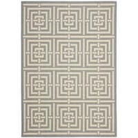 Safavieh Poolside Grey/ Cream Indoor Outdoor Rug - 5'3 x 7'7