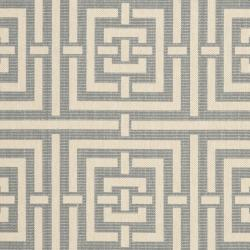 Safavieh Poolside Grey/ Cream Indoor Outdoor Rug (9' x 12')
