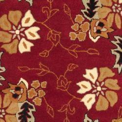 Safavieh Handmade Botanical Gardens Red Wool Rug (8' x 10')