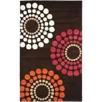 Safavieh Handmade Soho Celeste Brown New Zealand Wool Rug - 5' x 8'