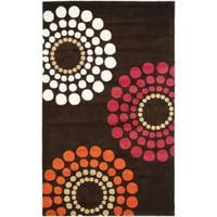 Safavieh Handmade Soho Celeste Brown New Zealand Wool Rug - 7'6 x 9'6