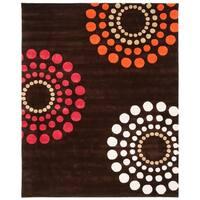 "Safavieh Handmade Soho Celeste Brown New Zealand Wool Rug - 7'6"" x 9'6"""