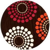 Safavieh Handmade Soho Celeste Brown New Zealand Wool Rug - 6' x 6' Round