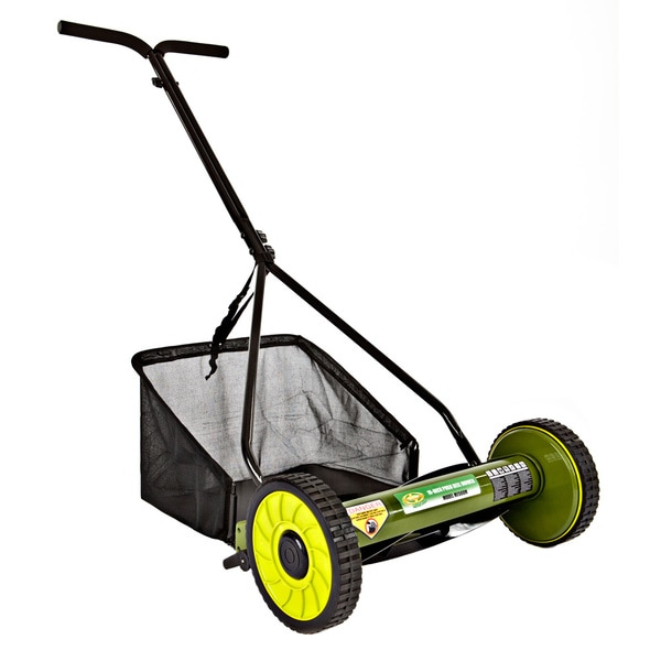 Sun Joe Mow Joe 16-Inch Manual Reel Mower with Catcher MJ500M