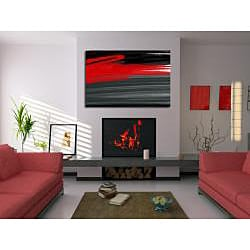Maxwell Dickson 'Rouge' Abstract Canvas Wall Art