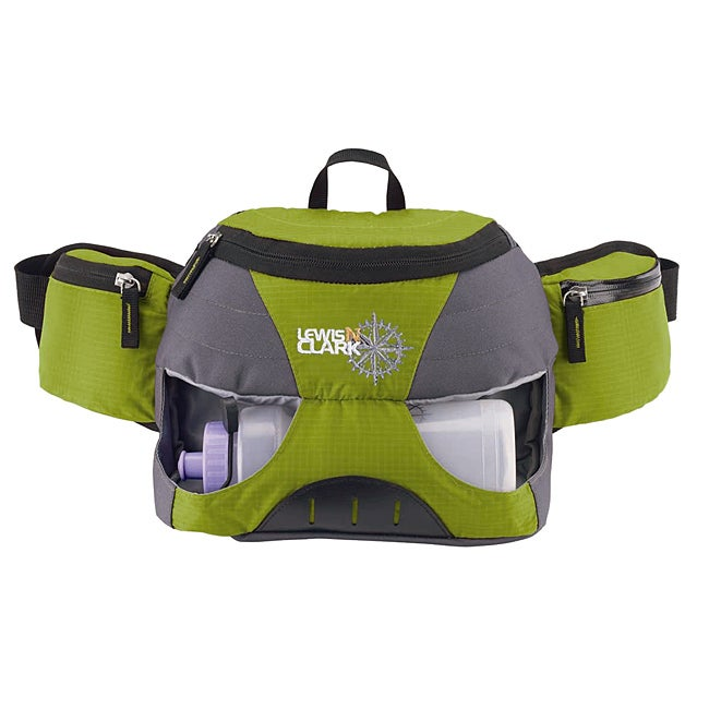 Lewis N. Clark Green/Gray Hydration Waist Pack with Sport Bottle