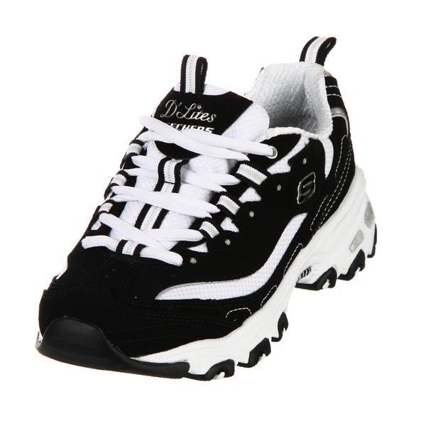 Skechers Women's Black/ White Athletic Shoes