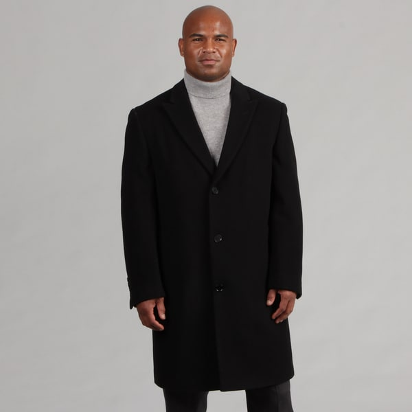 Calvin Klein Men's Single Breasted Wool/Cashmere Blend Topcoat