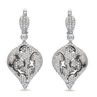 Miadora Signature Collection 18k White Gold 4ct TDW Diamond Earrings