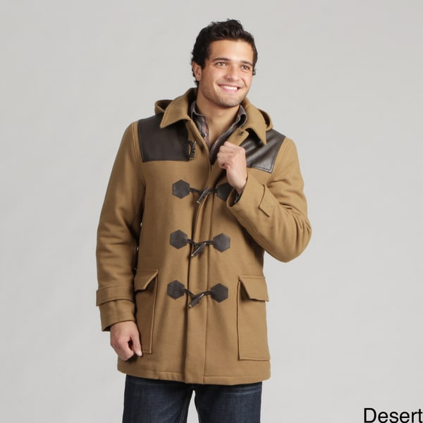 Sean John Men's Wool Blend Toggle Coat