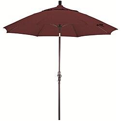 Lauren & Company 9-foot Terracotta Fiberglass Market Umbrella with Collar Tilt