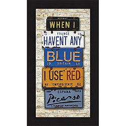 Greg Constantine 'Picasso, Use Red' Framed Print