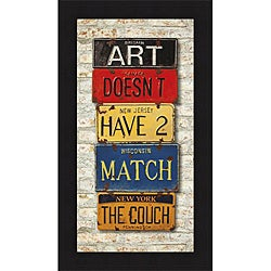 Greg Constantine 'Couch' Framed Print