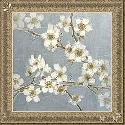 Elise Remender 'Silver Blossoms I' Framed Print