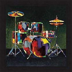 John & Elli Milan 'Drum Set' Framed Print