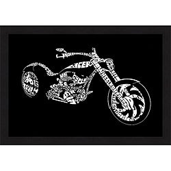 L.A. Pop Art 'Custom Chopper' Framed Print
