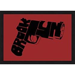 L.A. Pop Art 'Gun from Brooklyn' Framed Print