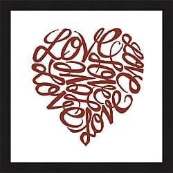 L.A. Pop Art 'Love, Love, Love' Framed Print