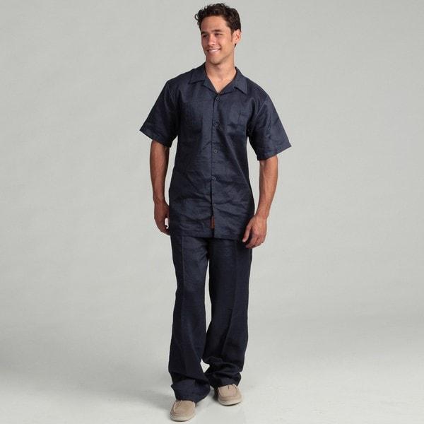 Steve Harvey Men's Linen Shirt and Pant Set FINAL SALE