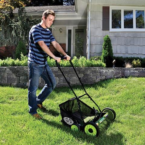 Sun Joe Mow Joe 20-Inch Manual Reel Mower with Grass Catcher MJ502M