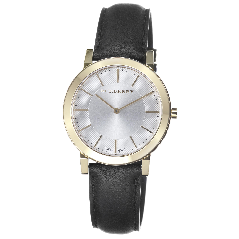 Burberry Men's 'Slim' Silver Dial Goldtone Quartz Watch