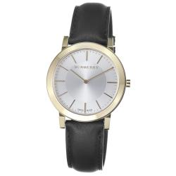 Burberry Men's 'Slim' Silver Dial Goldtone Quartz Watch - Thumbnail 0