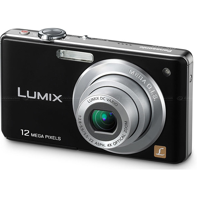 Panasonic DMC-FS12 12.7MP Black Digital Camera - Thumbnail 0