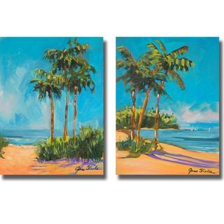 Jane Slivka 'Solitude I and II' 2-piece Canvas Art Set