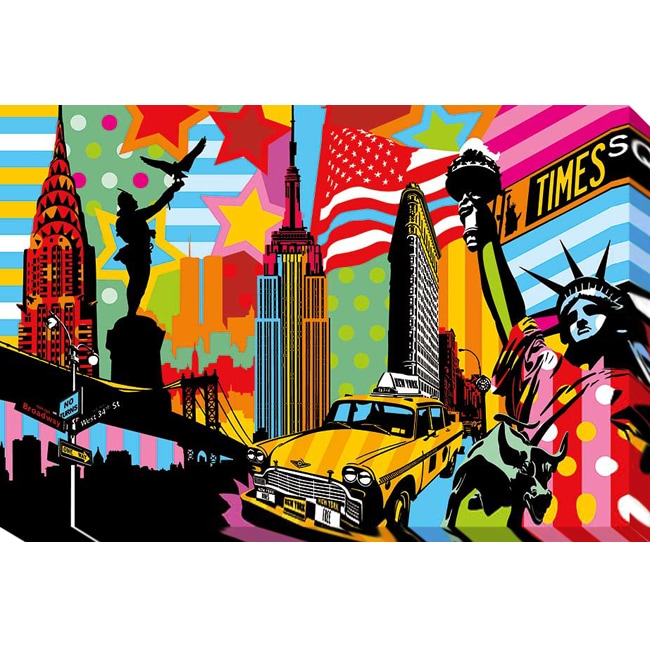 Lobo 'New York Taxi I' Gallery Wrapped Giclee - Thumbnail 0