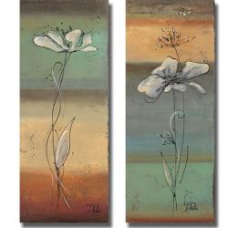 Patricia Pinto 'Spring Flowers I and II' 2-piece Canvas Art Set