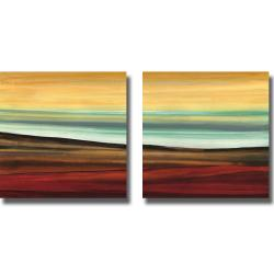 Jeni Lee 'Picnic Perfect I and II' 2-piece Canvas Art Set