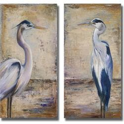 Patricia Pinto 'Blue Heron I and II' 2-piece Canvas Art Set|https://ak1.ostkcdn.com/images/products/6596021/79/229/Patricia-Pinto-Blue-Heron-I-and-II-2-piece-Canvas-Art-Set-P14167712.jpg?impolicy=medium
