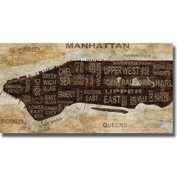 Luke Wilson 'Manhattan Neighborhoods' Canvas Art