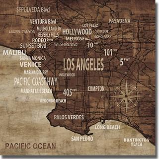 Luke Wilson 'Map of Los Angeles' Canvas Art