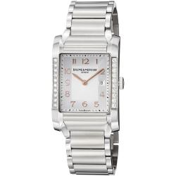 Baume & Mercier Women's 'Hampton' Silver Dial Stainless Steel Watch