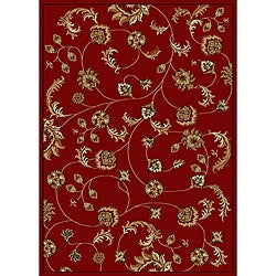 Admire Home Living Amalfi Vines Red Area Rug - 5'5 x 7'7 - Thumbnail 0