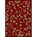 Admire Home Living Amalfi Vines Red Area Rug - 5'5 x 7'7