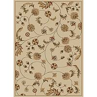 Admire Home Living Amalfi Vines Ivory Area Rug - 7'9 x 11'