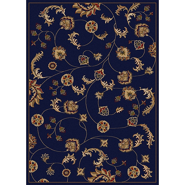 Admire Home Living Amalfi Vines Navy Area Rug (7'9 x 11')