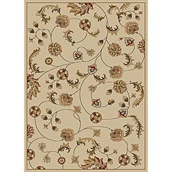 Admire Home Living Amalfi Vines Ivory Area Rug (5'5 x 7'7)