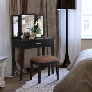 Furniture of America Jade Transitional White 3-piece Vanity Set
