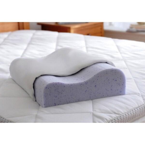 Splendorest TheraGel 3-position Gel Memory Foam Contour Pillow