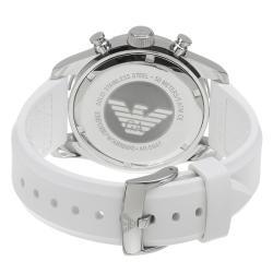 Emporio Armani Men's 'Sport' White Dial Quartz Chronograph Watch