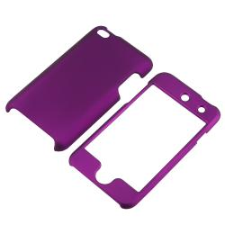 BasAcc Dark Purple Snap-on Case for Apple iPod Touch 4th Generation - Thumbnail 1