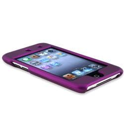 BasAcc Dark Purple Snap-on Case for Apple iPod Touch 4th Generation - Thumbnail 2