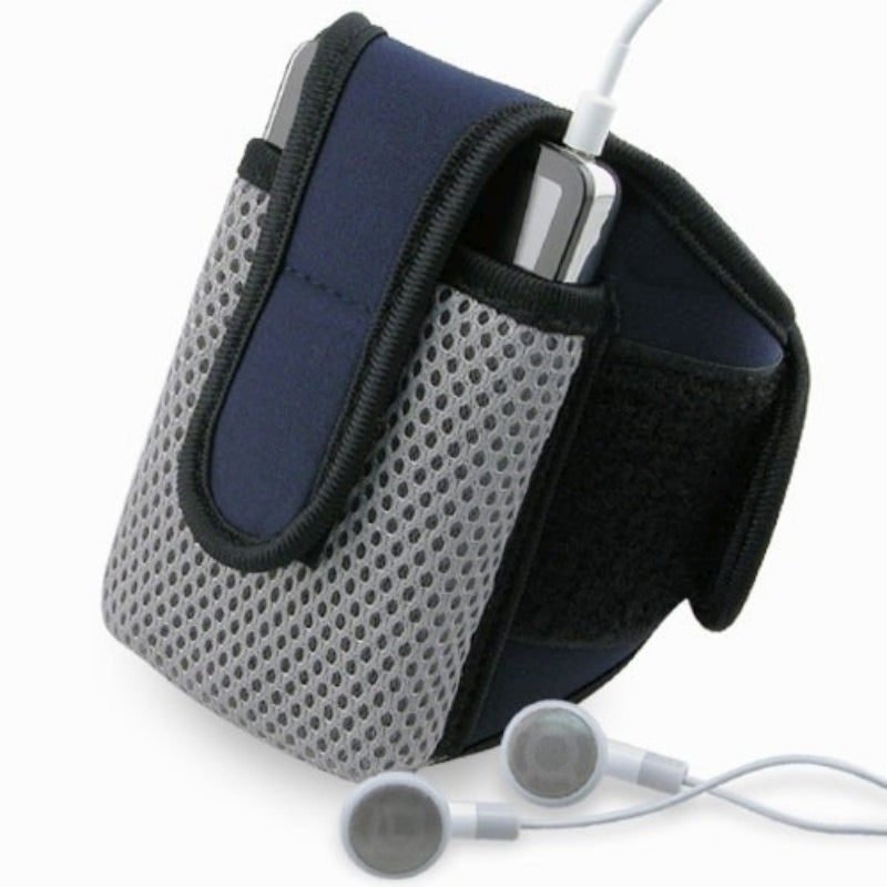 INSTEN Navy Blue Sportband with iPod Case Cover for Apple iPod Video