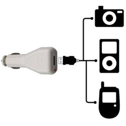 INSTEN White Universal USB Car Charger for Apple