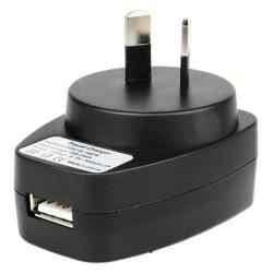 INSTEN Black Premium USB AU Travel Charger