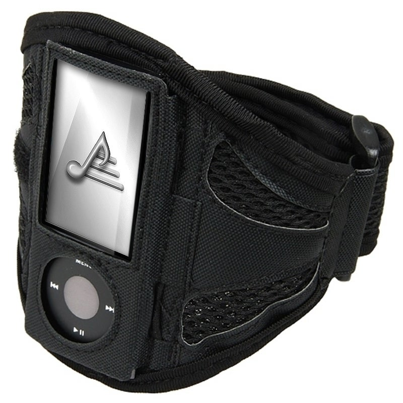 INSTEN Black Airmesh Armband for Apple iPod Nano 5th Generation